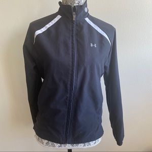 Under Armour Black Track Jacket Sz Small